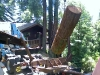 large redwood log lift